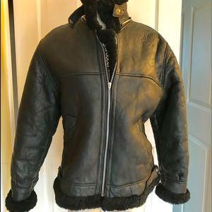 Jackets & Blazers - Genuine leather shearling jacket